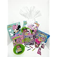 Disney Minnie Mouse Gift Basket, Get Well Soon, Care Package, Kids Action Pack Minnie Mouse Toy, Coloring Book, Bag, Tissues, Stickers, Cup + Candy Jewelry, Soup Bowl & Campbell's Soup 10pc Bundle