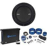 Polk Audio MM842DVC 8 900w DVC Car Audio Subwoofer Sub+Mono Amplifier+Amp Kit