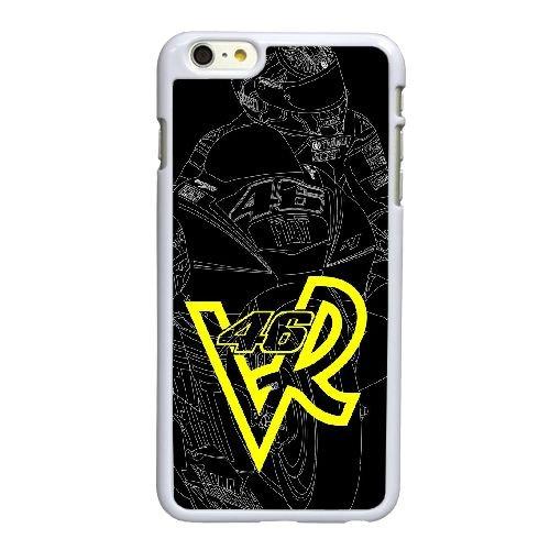 B5H75 Valentino Rossi Q4X8MD coque iPhone 6 4.7 pouces cas de téléphone portable couverture de coque blanche KL6YRQ7IS