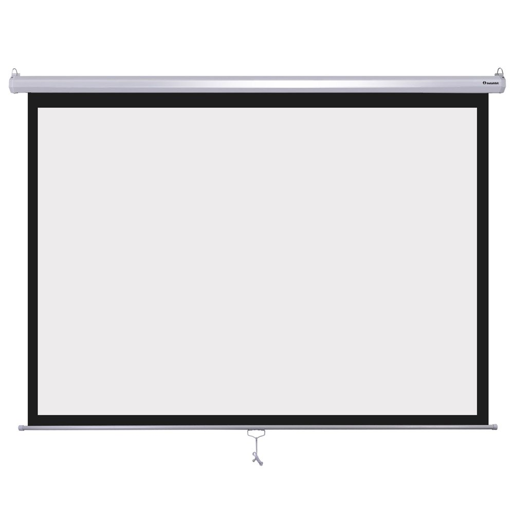 Instahibit 72inches Diagonal 4:3 Manual Pull Down Projection Screen Matte 57'' x 43'' White