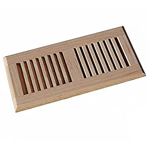 Welland 4 Inch X 10 Inch Red Oak Wood Vent Floor Register