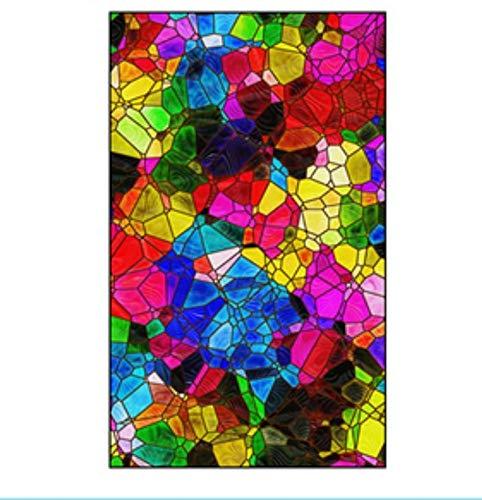 LMLM Glass Film Light Translucent Opaque Frosted Glass Sticker Balcony Window Window Sticker Blackout Color Film 45X100CM