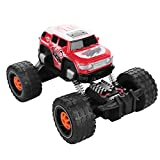 SZJJX RC Cars Off-Road Vehicle R/C Bigfoot SUV 2.75 Ghz 2WD 4CH High Speed Remote Radio Control Racing Climbing Cars Electric Master Rock Crawler Buggy Hobby Car Fast Race Truck Red