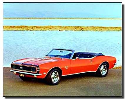 Amazon Com Wall Decor 1968 Rg Ss Camaro 396 Vintage Classic Car Art