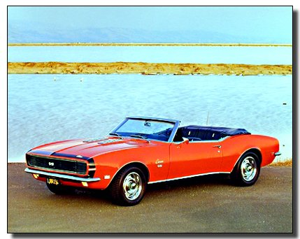 1968 Rg/ss Camaro 396 Vintage Classic Car Wall Decor Art Print Poster