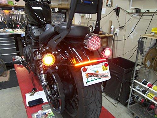 Yamaha Fender Eliminator - Yamaha Bolt Fender Eliminator Integrated LED Taillight Kit with Tag Light and Bracket - Brake and Turn Signals - Smoked Lens