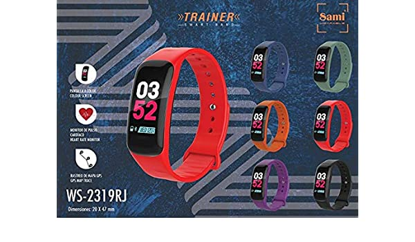Smart Band Trainer Rojo: Amazon.es: Relojes