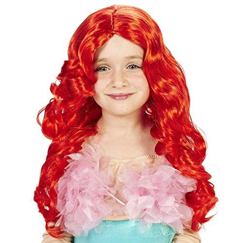 Red Mermaid Child Wig (Fancy Dress Red Wig)