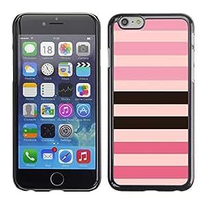 Ziland/Diseño delgado diseño Shel/rosa y morado negro/equivalen a Apple iPhone 6 Plus 5,5