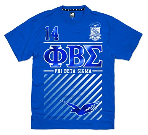 Sigma Phi Fraternity - Phi Beta Sigma Fraternity Mens New Graphic Tee Large Royal Blue