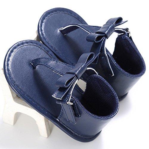 BOBORA Bebes Ninas Bebes Verano Zapatos Bowknot Sandalias Flip-Flop azul