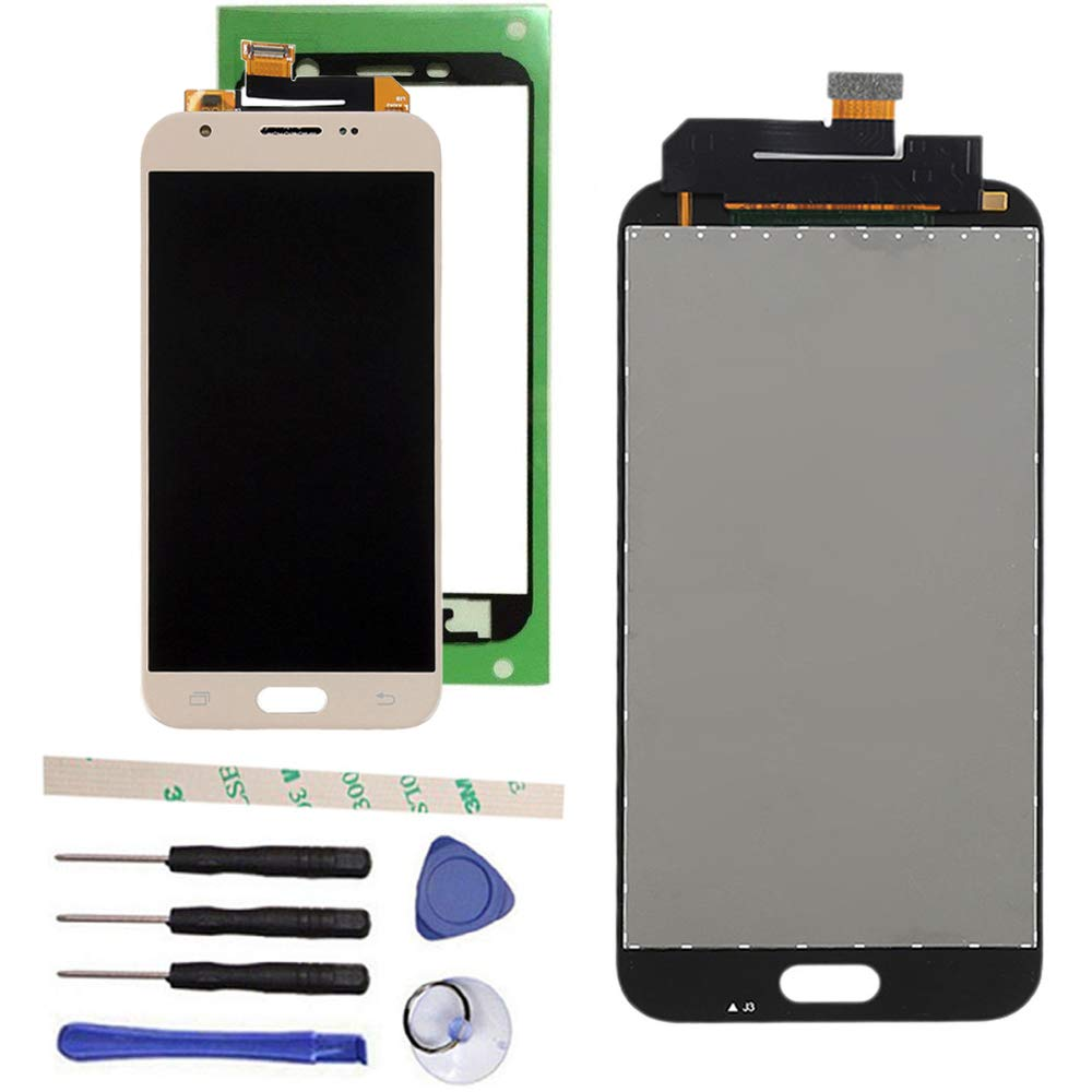 100% Tested LCD Display Touch Screen Digitizer Assembly for Galaxy J3 2017 Prime SM-J327 J327R4 J327T J327T1 J3 Amp Prime 2 SM-J327AZ J3 Emerge J327A J327P J3 V 2017 J327V Eclipse J327VPP (Black) Draxlgon