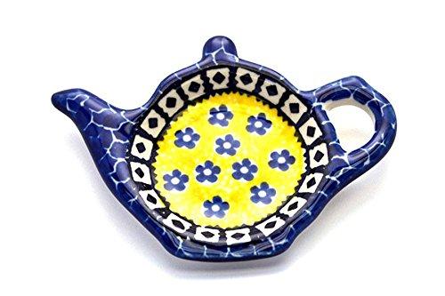 Polish Pottery Tea Bag Holder - Sunburst