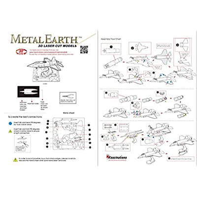 Fascinations Metal Earth F-35A Lightning II Airplane 3D Metal Model Kit: Toys & Games