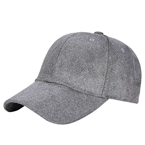 YEZIJIN Baseball Cap with Classic Adjustable Fastner Boys Mens & Ladies Winter Suede Hat