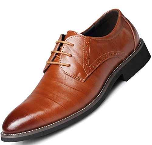 Lace Shoes Oxfords Up Dress Brown Modern Wingtip Classic Mens DADAWEN 4ngw86qxtq