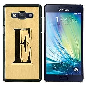 EJOOY---Cubierta de la caja de protección para la piel dura ** Samsung Galaxy A5 A5000 ** --letra e cada Elena ellie pergamino