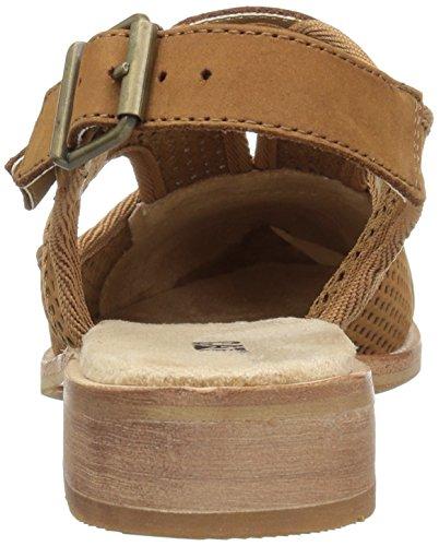 Cinghiale Scarpe Da Donna Martine Fionda Scarpe Forate Sandalo Piatto Marrone Zucchero
