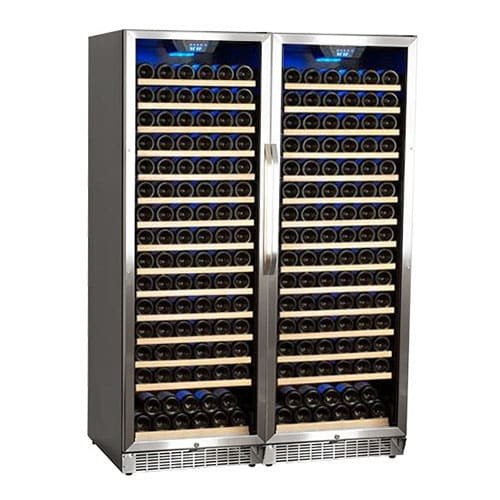 Edgestar CWR1661SZDUAL 332 Bottle Built-In Side-by-Side Wine Cellar Stainless Steel - Black by EdgeStar