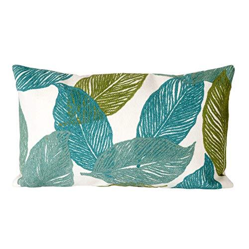 Liora Manne Mystic I Petals Indoor Outdoor pillow, Aqua – 12 X 20