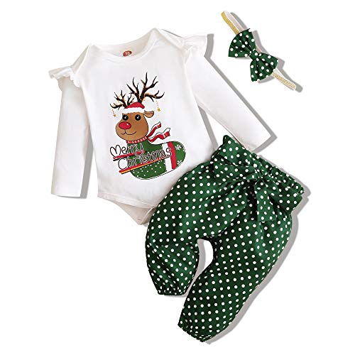 Newborn Baby Girl Boy Christmas Clothes Outfits My First Christmas Romper Infant Toddler Holiday Clothes Set