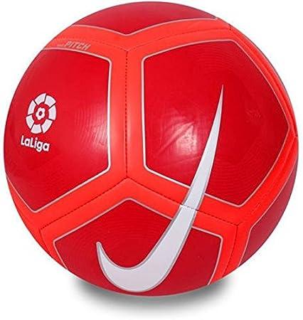 Nike Pitch-La Liga Balón, Unisex Adulto, Rojo (Red / Crimson ...