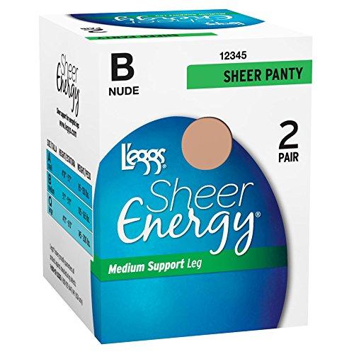 Tan Hosiery - L'eggs Sheer Energy All Sheer 2 Pair_Nude_B