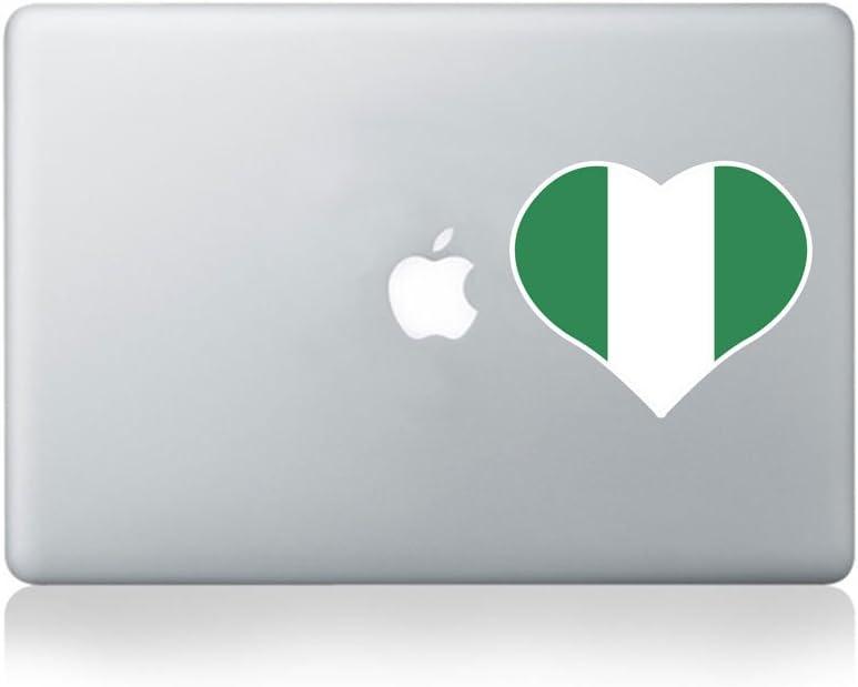 I Love Nigeria Vinyl MacBook Sticker/Laptop Sticker - Fits MacBook Air (11/13), MacBook Pro (13/15), MacBook Pro Retina (13/15) and MacBook Retina (12)