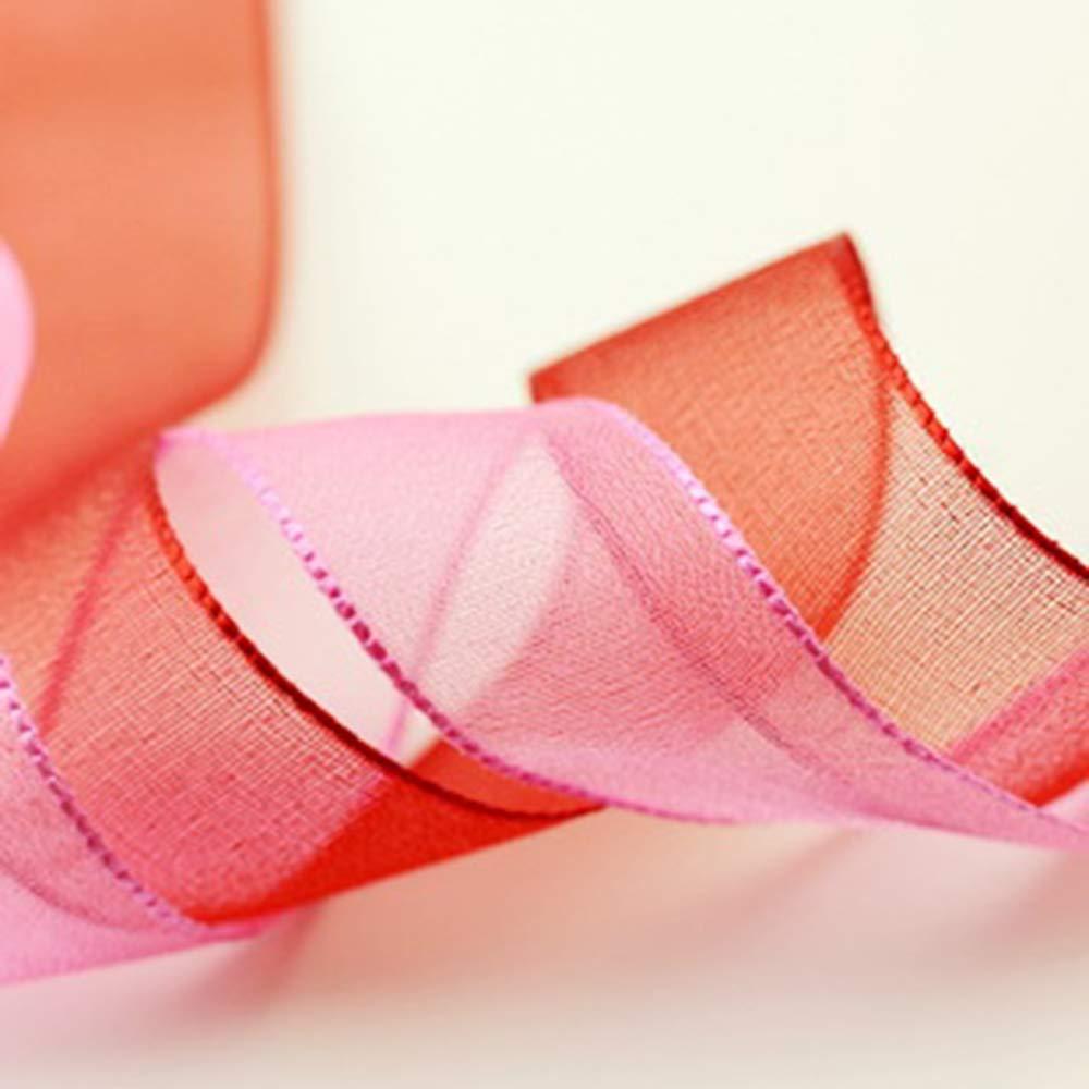 Ogquaton Cintas de hilo nebuloso nebuloso cinta de tejido de la cinta del grosgrain para adornos para el pelo del bowknot artesan/ía ropa decoraciones 32 unids color al azar