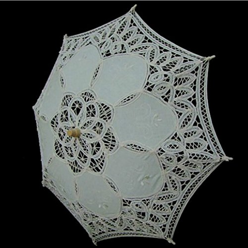 Kids Lace Sun Umbrella,Gsha Handmade Cotton Parasol Umbrella Costume Accessory 3-5Years by Gsha (Image #3)