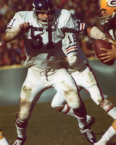 DICK BUTKUS CHICAGO BEARS 8X10 SPORTS ACTION PHOTO (PL) Dick Butkus Chicago Bears