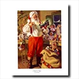 Old St Nick Santa Clause Christmas Wall Picture Art Print #3