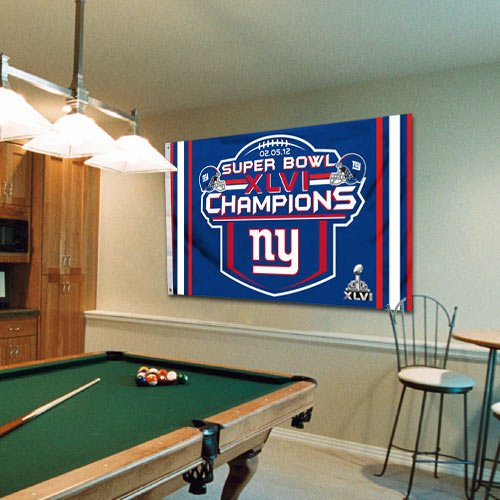 NFL New York Giants Super Bowl XLVI Champions Royal Blue 3' x 5' Flag () by Fremont Die