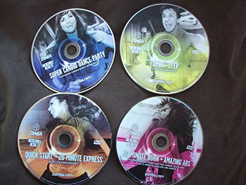 Zumba Fitness Incredible Results 4 DVD ONLY