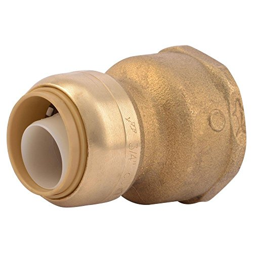 SharkBite U086LFA Water Softener Fitting 3/4 inch x 1 inch FIP, Push-To-Connect, COPPER, PEX, CPVC by SharkBite