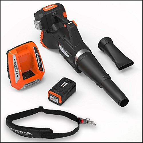 Yard Force 120vRX Lithium-Ion Blower with Push-Button Speed Control - COMPLETE with Battery and Fast Charger included by YardForce