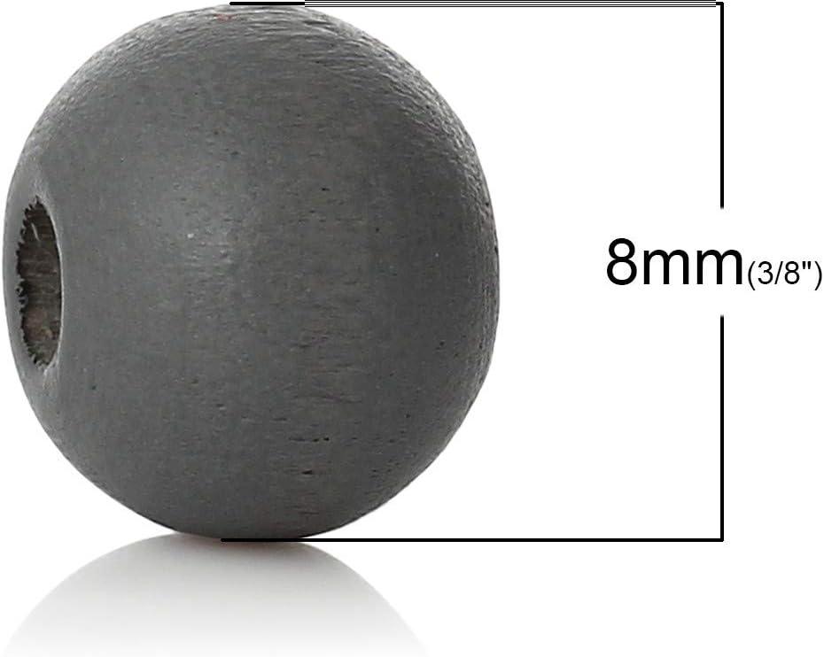 Perline per bricolage Perline Rotonde Sfere di Legno Traforate Sadingo Perline di Legno Colorate 500 Pezzi Perline per infilare Orange Legno 8 mm