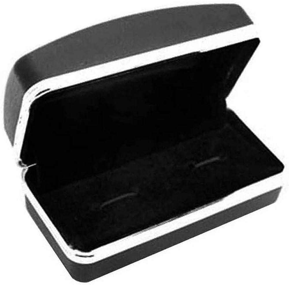 tumundo 2 Boutons de Manchette Acier Etui Pot /à Bi/ère Mug Chope Homme Cravate Chemise Brillant Argent Accessoire