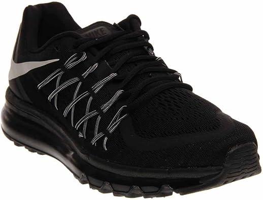 Nike Air Max 2015 - Zapatillas de running para hombre, color negro (negro/blanco), 44.5 EU: Amazon.es: Zapatos y complementos