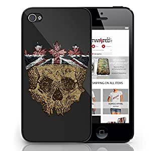 Black Cover For Iphone 5 / 5s Union Jack Skull Funny Cute Phone Case