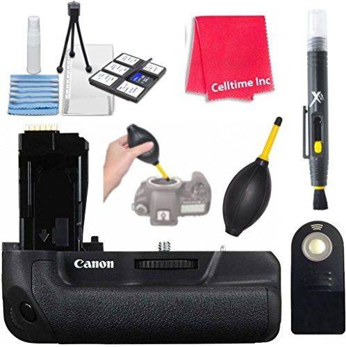 Canon Battery Grip BG-E18 for Rebel T6s and Rebel T6i with Accessories by Celltime Inc.