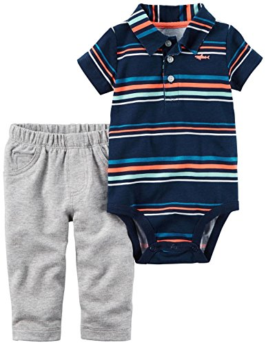 Carter's Baby Boys' Bodysuit Pant Sets 121h157, Navy, 3M (Coupons Polo Online)