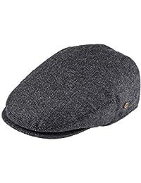 0afc0175 Men's Herringbone Flat Ivy Newsboy Hat Wool Blend Gatsby Cabbie Cap