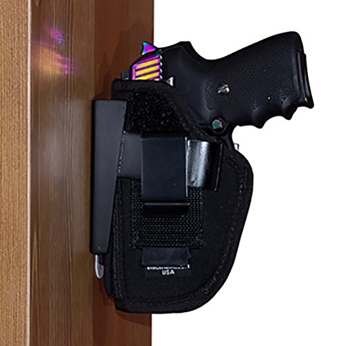 By My Side Holster® Mount For Vehicle, Under Desk or Bedside - Wide Size with Side Mount Adapter - Fits Glock, S&W M&P, Taurus Model 85 and Similar Large Frame Handguns