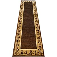 CHAMPION RUGS LODGE CABIN COUNTRY WESTERN THEME COWBOY BOOTS AREA RUG (2 Feet 2 Inch X 7 Feet 2 Inch Runner)