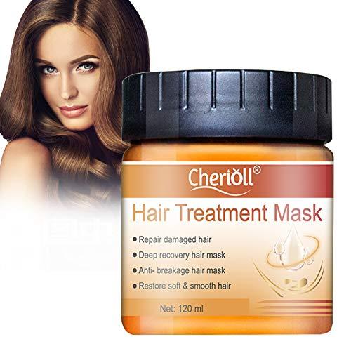 Hair Mask, Hair Treatment Mask, Hair Root Treatment, Hair Nourishing Mask, Restore Soft Hair, Deep Conditioner Suitable for Dry and Damaged Hair, Hair Tonic Keratin Hair & Scalp Treatment, 120g