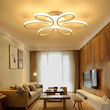 Houdes Modern Led Chandelier Lighting Ceiling Light Fixture Hanging Lamp For Living Room Bedroom Dining Room Study Room Kids Room 29inch Contemporary