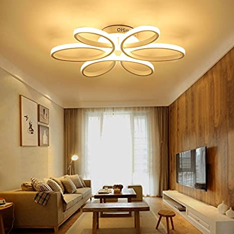 HOUDES Modern Led Chandelier Lighting Ceiling Light Fixture Hanging Lamp  for Living Room Bedroom Dining Room Study Room Kids Room 29inch  Contemporary ...