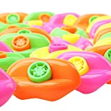 Amy & Benton Lip Whistles 48PCS Plastic Lip Whistle Toy Party Favors for Kids (Assorted Colors, 2.5 In)