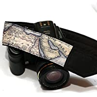 Vintage Map Camera Strap. Holy Land Camera Strap. Nikon Canon Camera Strap. SLR, DSLR Camera Strap. Gift For Photographer; 006